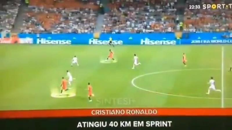 E o Cristiano q aos 33 anos de idade Contra a espanha se tornou o jogador mais rapido do m