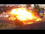 Gas Station Spontaneously Combusts