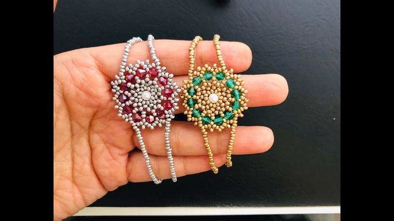 Pretty Beaded Bracelet For Festive Season. DIY Beaded Bracelet 💞
