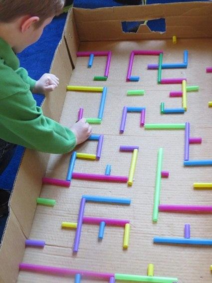 Сделать лабиринт для детей