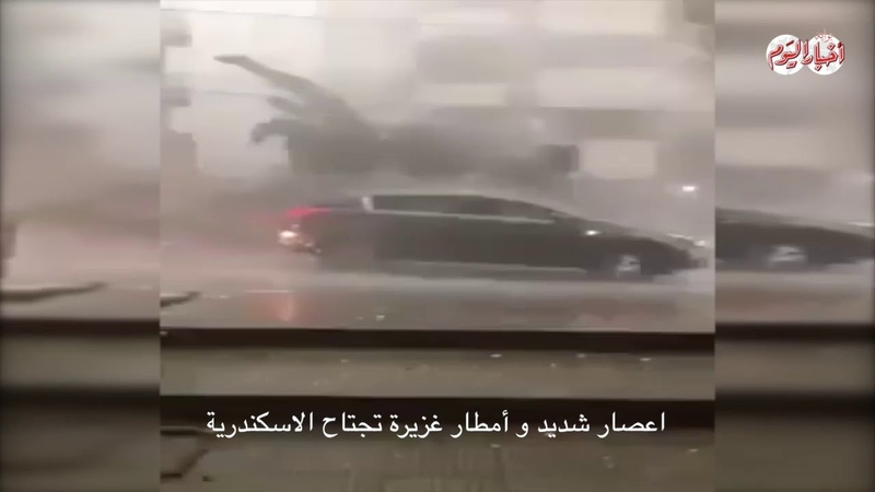 أخبار اليوم   اعصار شديد يقتلع الاشجار واعم