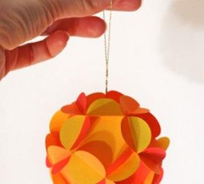 Новогодний 3D шар из бумаги