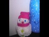 Как сделать помпон из пряжи своими руками Видео-урок Снеговик