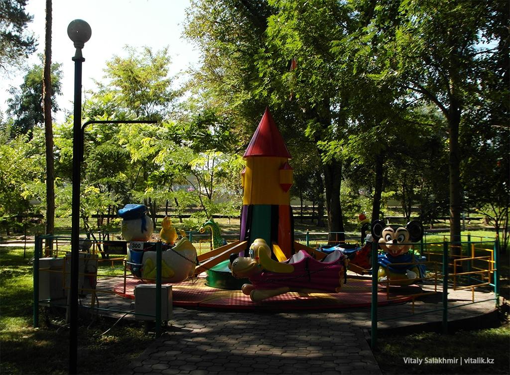 Аттракцион для детей, Центральный Парк Алматы 2018