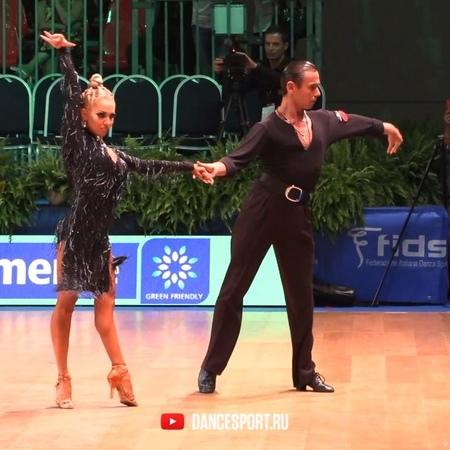 """DANCESPORT.RU on Instagram: """"Armen Tsaturyan - Svetlana Gudyno RUS in Cha-Cha-Cha at the 2018 WDSF GrandSlam Latin, Rimini 2018, Italy, 15.07.2018..."""