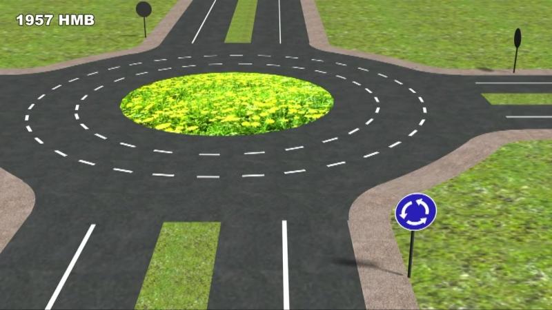 13. Проезд перекрёстков с круговым движением