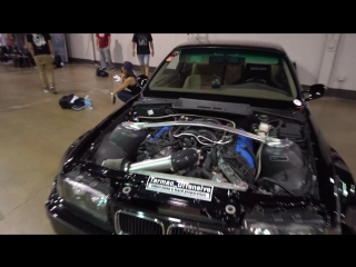 Wide body pandem rocket bunny e36 m3 with a 5.0l ford coyote v8 engine swap