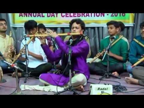 Raag bhoop flute Prakash hegde Sushira sangeeta shala 2016 annual day
