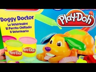 Play-Doh Doggy Doctor Puppy Playset Play Doctor with Puppies Play Dough by Unbox...