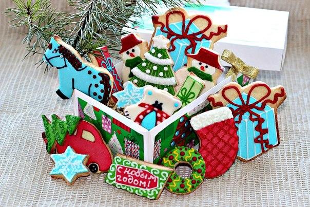 Украшение новогоднего печенья мастер класс