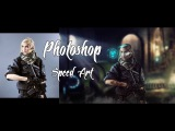 Photoshop Speed Art. Soldier of the future