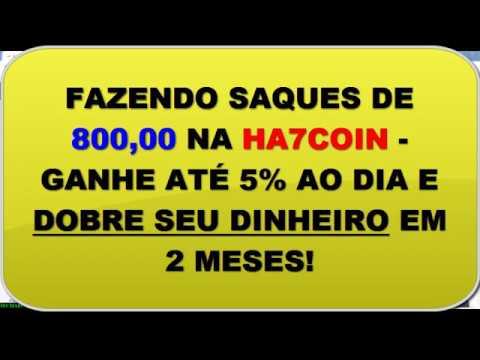 Fazendo Saques de R$ 800 na Conta HA7COIN INVESTIMENTOS