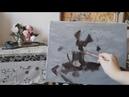 Пионы Итальянский метод работы масляными красками