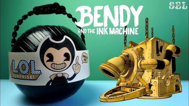 Большой ЛОЛ Сюрприз БЕНДИ и Чернильная Машина Custom LOL Surprise Bendy And The Ink Machine