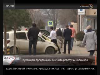 Жителям Кубани предложили оценить работу чиновников.