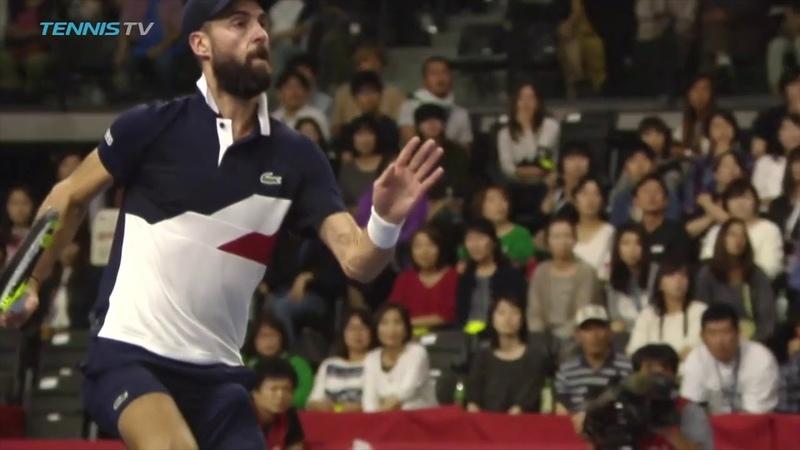 Benoit Paire hits CRAZY flying tweener | Tokyo 2018
