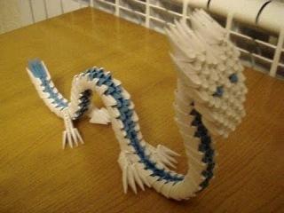 3D Оригами - Как создать дракона