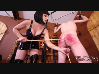 Clubdom Mistress Jean Bardot inhumanly canning her slave ❤