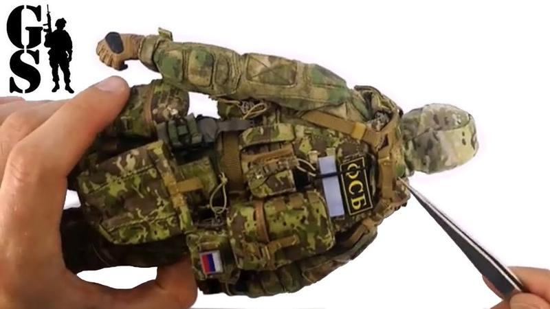 Сборка коллекционной фигурки бойца спецназа ФСБ группы Альфа (DAM 78047) - DAM Toys