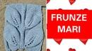 Frunze mari tricotate вяжем большые листя