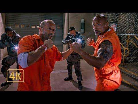 И это всё? Декард Шоу против Люка Хоббса. Побег из тюрьмы. Форсаж 8 (2017)