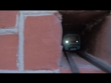 Вагончик метро подмигивает екатеринбуржцам.
