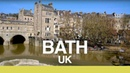 【4K】BATH ENGLAND WALK - River Avon, Roman Baths Royal Crescent
