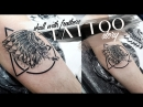 Tattoo story Skull with feathers