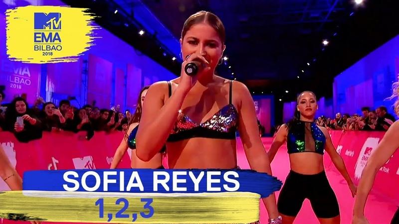 Sofia Reyes - 1, 2, 3 Live   MTV EMAs 2018