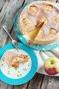 Яблочный пирог со вкуснейшей заливкой