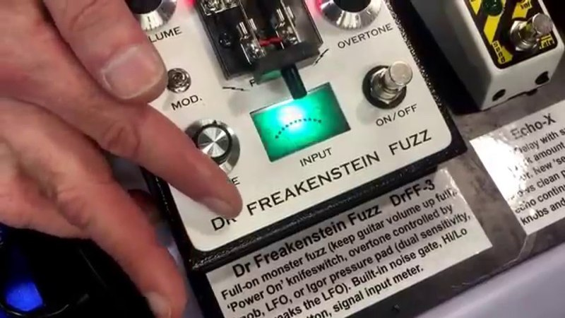 Dr. Freakenstein Fuzz Pedal by Grainger Effects @ NAMM 2016