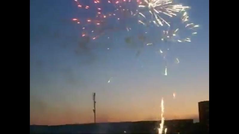 Салют по поводу открытия Олимпа в г.Новополоцке