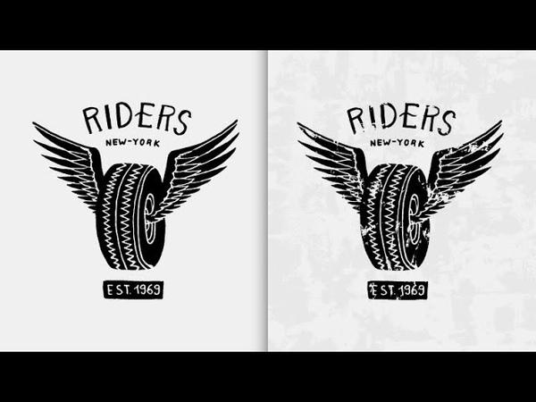 Как сделать гранжевую текстуру в векторе / Adobe Illustrator Уроки Иллюстратора