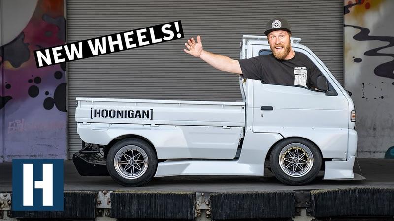 Rotary Powered Pit Truck Gets FRESH Work Wheels Drift Car Fuel Setup!