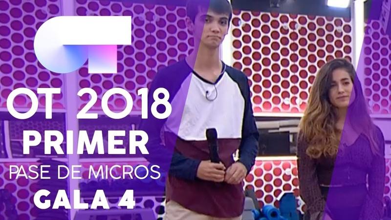 VIVIR JULIA y DAVE Primer pase de micros Gala 4 OT 2018