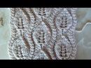 Ажурный узор Листочки Вязание спицами Видеоурок 75