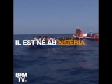 BFMTV, la chaîne du juif Drahi, a tenu à célébrer l'anniversaire supposé d'un nègre du Nigéria à bord de l'Aquarius.
