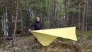 5 способов установки пончо тента 5 ways to setup your poncho tarp