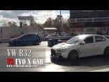 VW Golf R Vs EVO X GSR