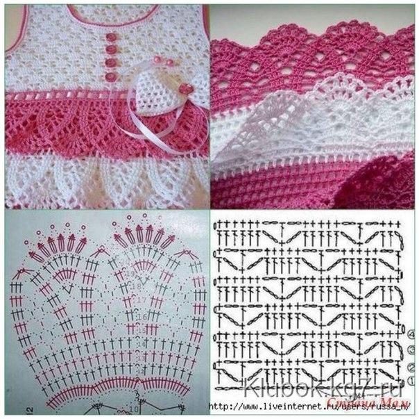 вязание крючком для девочек платья сарафаны тун записи в