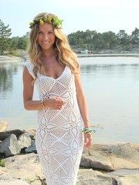 Платье летнее пляжное крючком