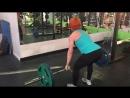 Юлия Зауголова - тяга штанги в наклоне, 80х10