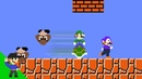 Luigi wins by doing absolutely nothing in Super Mario Bros.