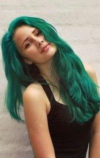 Волосы болотного цвета