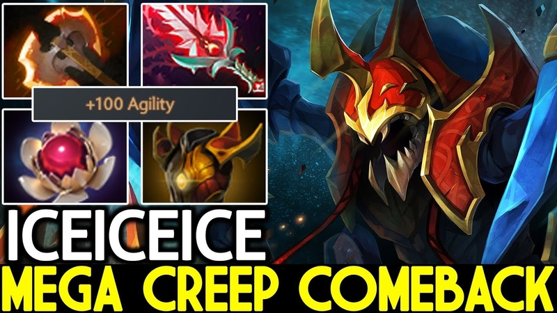 Iceiceice [Nyx Assassin] Mega Creeps Comeback Crazy Gameplay 7.20 Dota 2