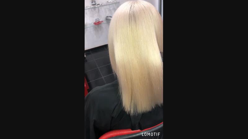 Керапластика волос 💆🏼♀️ Состав смыт ‼️ Высушен без использования расчески❗️ Блондинки спасение для вас ❗️