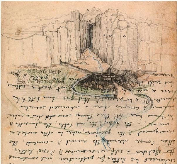 Чертежи и наброски к «Властелину колец» Автор: Джон Толкин.