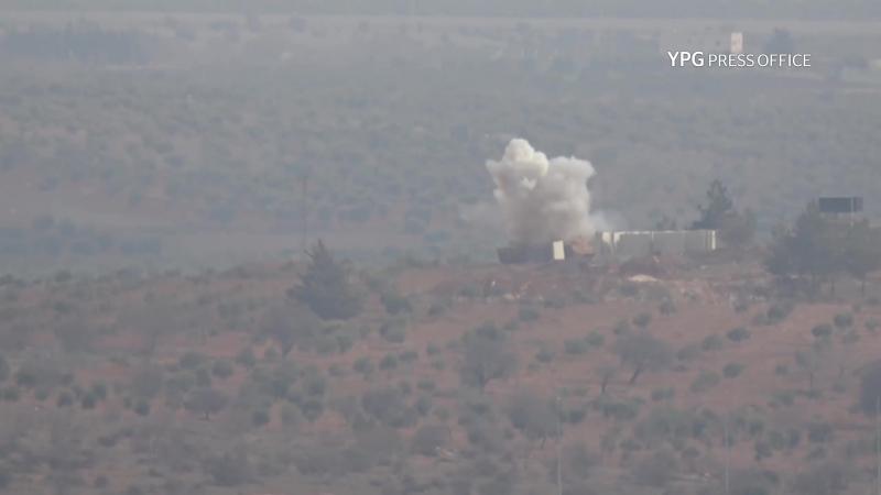 Момент подбития курдами турецкого танка Leopard 2