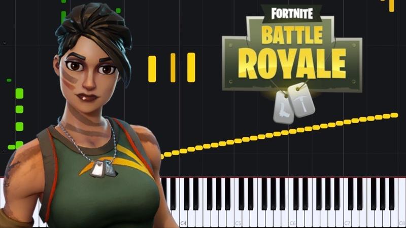 Fortnite Battle Royale Medley [Piano Tutorial] (Synthesia) Zebeldarebel