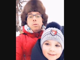 Зимние забавы Максима , Гарри и Лизы Галкиных